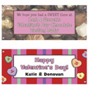 Custom Valentine's Day theme banners