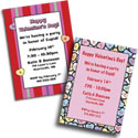Custom Valentine's Day Theme Invitations