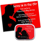 Valentine's Day theme party invitations, decorations and favors