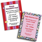 Valentine's Day invitations and party favors