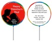 custom valentine's day lollipop