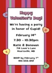 personalized hearts theme invitation
