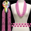 Pink beaded necklaces
