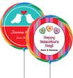 custom valentine's day lollipop