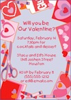 valentine's day invitation. invitation for Valentine's Day