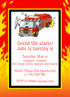 firefighter birthday invite
