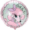 pink poodle mylar balloon