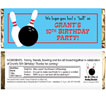personalized bowling candy bar wrapper