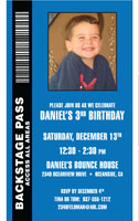 Backstage Pass for Boys Birthday
