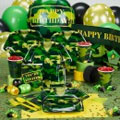 camo theme party supplies. army theme birthday party