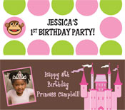 Personalized girls birthday party banners