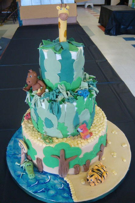 1st birthday cake cartoon. Check out this jungle cake
