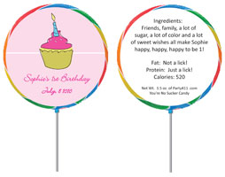 Custom lollipop party favors