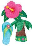Tropical theme pinatas