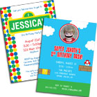 See all kids birthday party invitations and favors