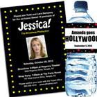 Hollywood and Broadway theme invitations and favors