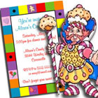 Candyland theme party invitations and favors
