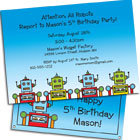 Robot Party Invitations and Favors