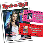 Rock 'n roll theme birthday party invitations