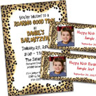 Birthday party jungle invitations