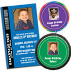 Personalized photo birthday party favors and invitations