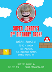 super mario theme birthday invitation