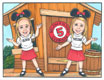 Mickey Mouse Club theme caricature invitation
