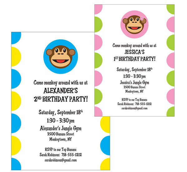 Funky Monkey Invitation / A funky monkey invitation!