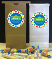 custom sesame street party favor for kids birthday. sesame street theme candy bags