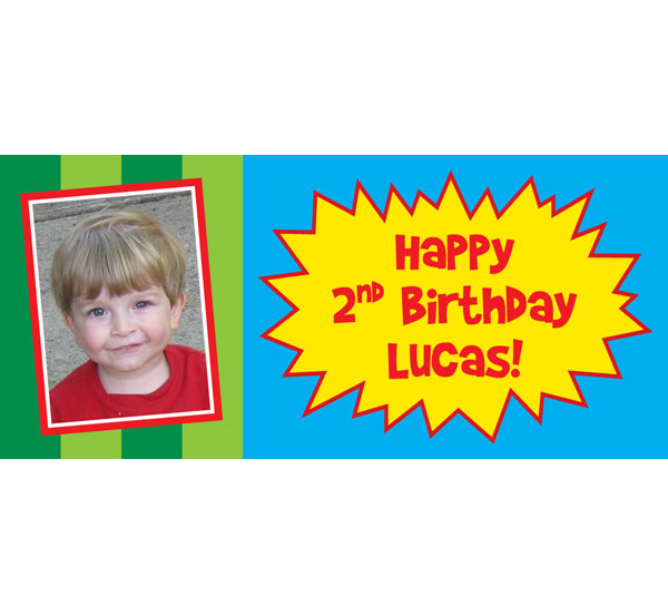 Custom Yo Gabba Gabba Style Theme Banner / Personalize this birthday banner with your wording and photo!
