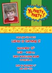 personalized yo gabba gabba invitation