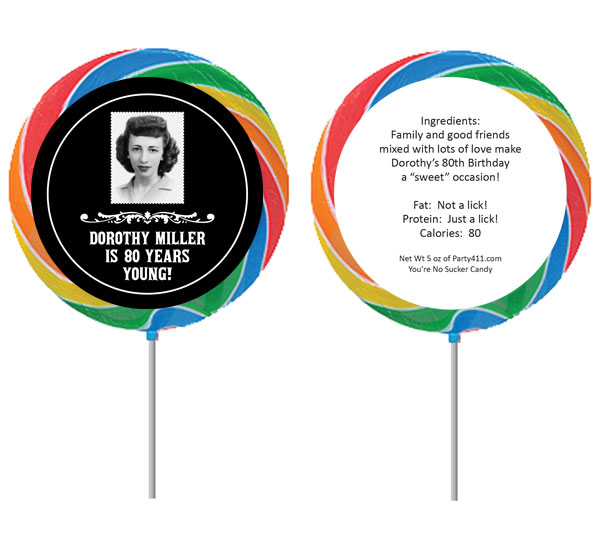 A Vintage Birthday Milestone Theme Lollipop