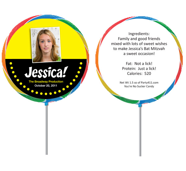 Broadway Lights Theme Custom Lollipop / Cute Broadway party favor