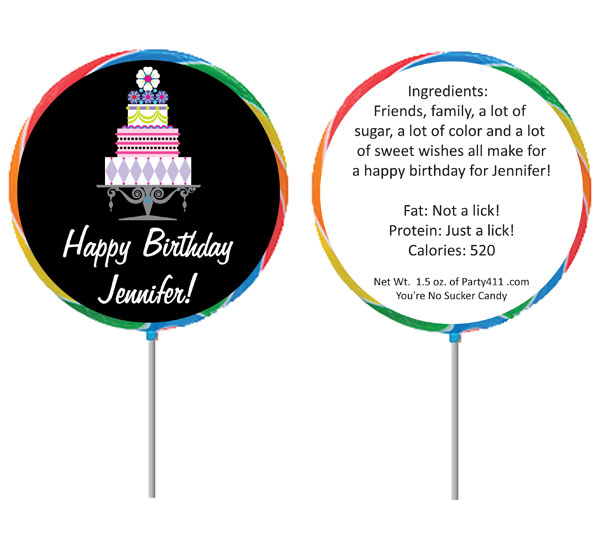Birthday Cake Theme Lollipop / A perfect cake for a perfect birthday!