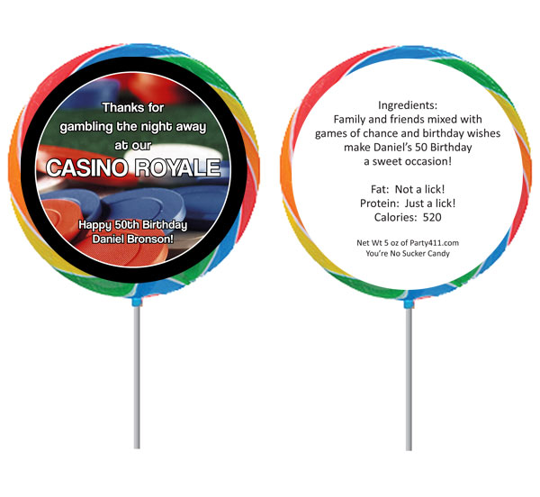 Casino Chips Theme Lollipop