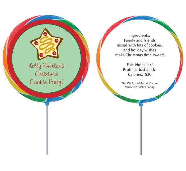 Christmas Cookies Theme Lollipop