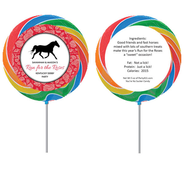 Kentucky Derby Roses Theme Custom Lollipop