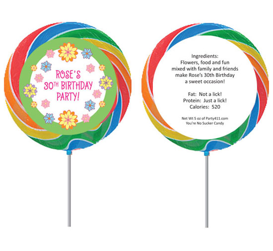 Flower Theme Custom Lollipop / This lollipop is just as sweet as the flower on it!