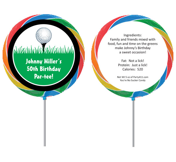 Custom Lollipop, Golf Theme / A fun golf theme lollipop favor