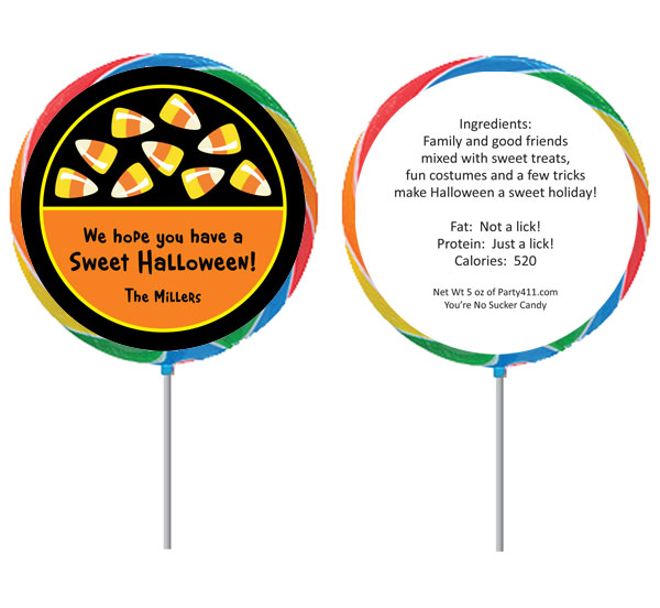 Halloween Sweet Candy Corn Theme Lollipop / A sweet party favor for your party