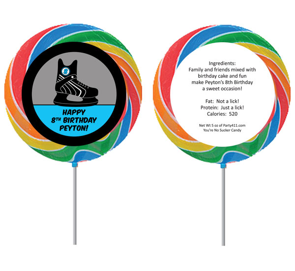 Hockey Theme Custom Lollipop
