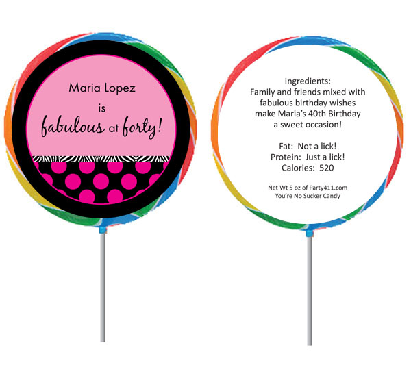 A Fabulous Party Theme Lollipop. Celebrate a birthday with a fun lollipop ...