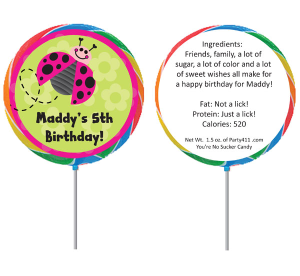 Ladybugs Theme Lollipop / Lovely ladybugs love lollipops
