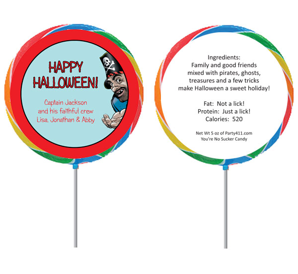 Pirate Theme Custom Lollipop