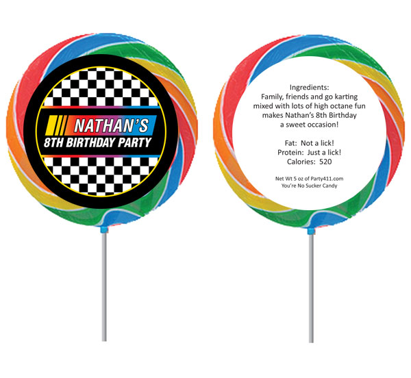 Racing Flag Theme Custom Lollipop