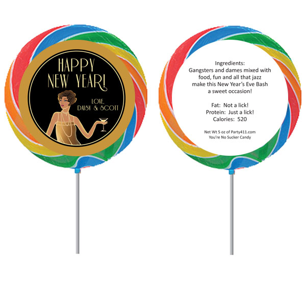 Roaring 20s Theme Lollipop