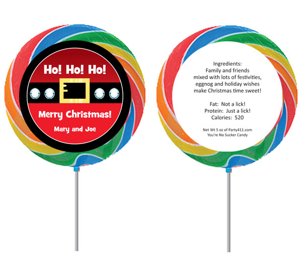 Christmas Santa Suit Lollipop / Say Merry Christmas with a lollipop party favor!