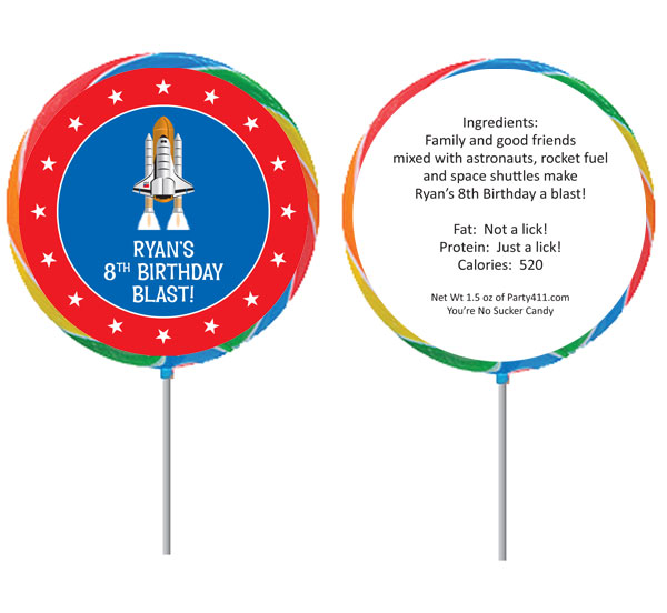 Space Theme Custom Lollipop / A great space rocket theme lollipop
