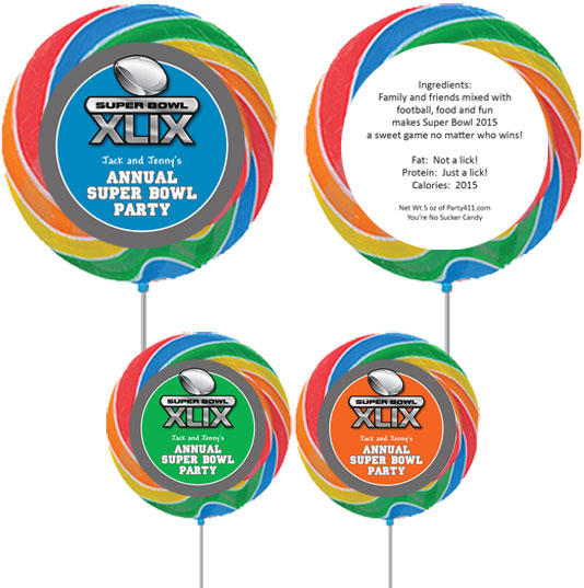 2015 Super Bowl XLIX Theme Custom Lollipop / A fun favor for the big game