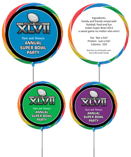 2013 Super Bowl XLVII Theme Custom Lollipop / A fun favor for the big game